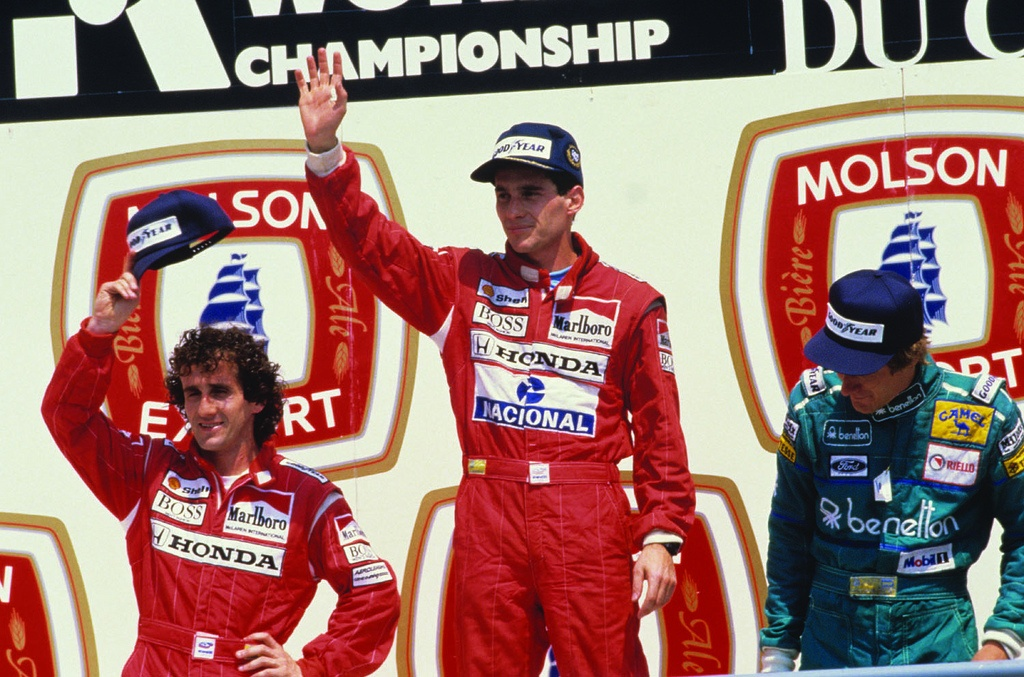 Prost and Senna on podium