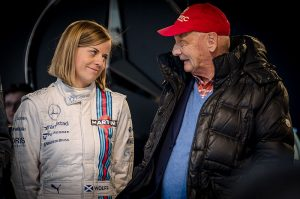 Susie Wolff and Niki Lauda...