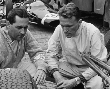 Brabham and Gurney. Harry Pot.